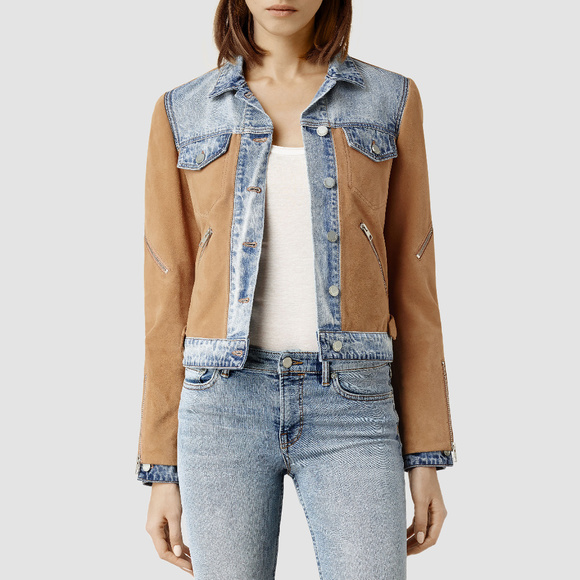 All saints suede jacket womens